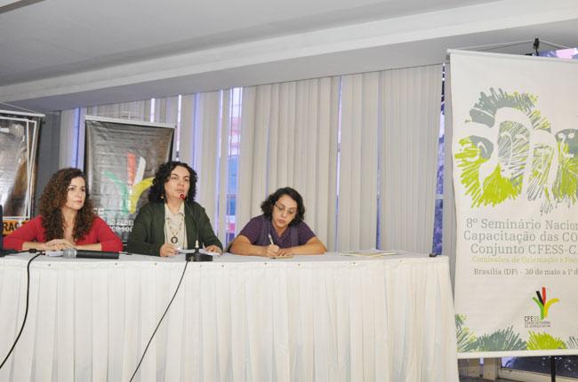 Mesa de abertura do seminário das COFIs em Brasília