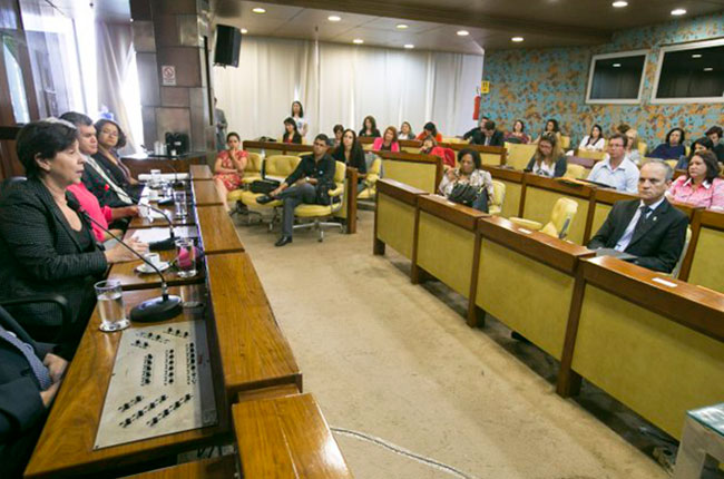 Imagem da audiência em que foi instalada a Mesa Nacional de Gestão do Trabalho do Suas