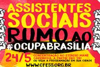 Assistentes sociais no 'Ocupa Brasília' para barrar as contrarreformas!