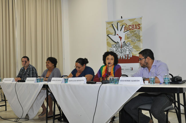 Diversidade sexual e identidade de gênero foi tema de outra plenária simultânea (foto: Diogo Adjuto)