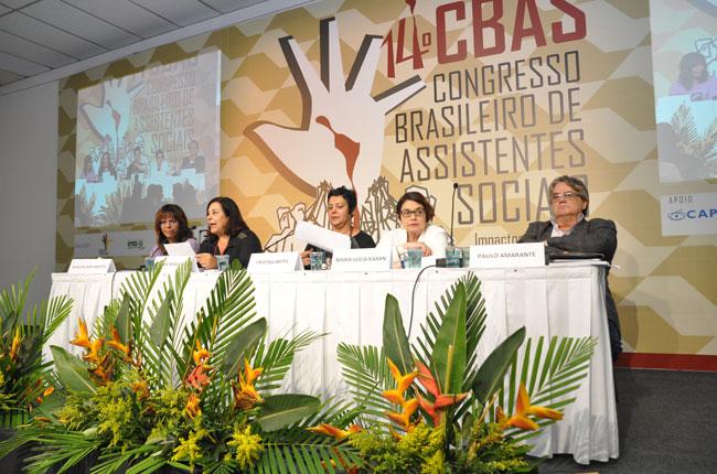 A política sobre drogas e seu rebatimento na intervenção de assistentes sociais também foi um dos temas do dia (foto: Diogo Adjuto)