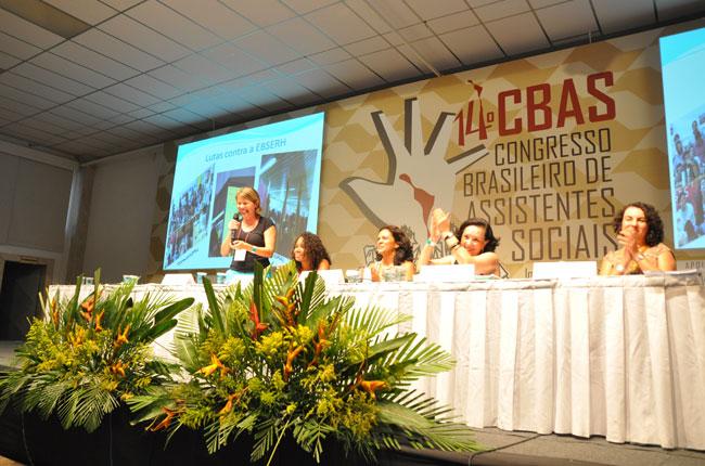 Plenária debateu o trabalho de assistentes sociais na área da saúde (foto: Rafael Werkema)