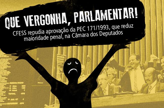 Imagem ilustrativa com os dizeres Que vergonha, parlamentar