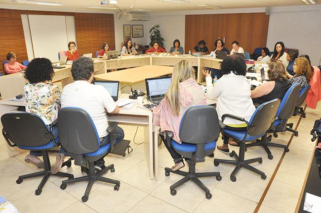 Imagem da reunião do CFESS com as representantes nos espaços de controle social