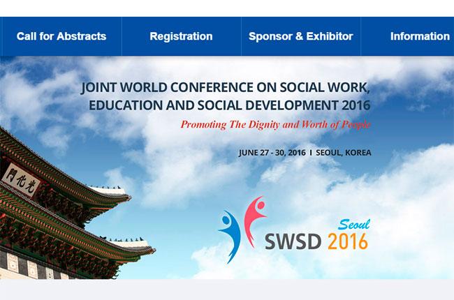 Imagem do site da Conferência Mundial de Serviço Social 2016
