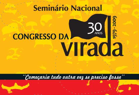 Foto reproduzindo capa do livro Seminário Nacional dos 30 anos do Congresso da virada